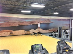 Custom Wall Mural for Gym Oklahoma City Sign Company