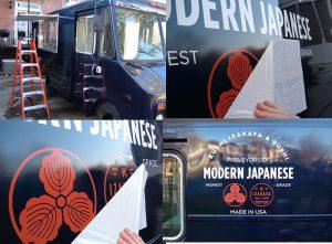Vinyl Lettering custom vinyl vehicle wrap installation graphics 300x221