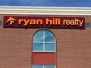 custom real estate storefront sign