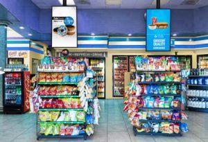 Digital Convenience Store Signage